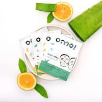 OMO! Cupra Silk Facial Mask (2 Aloe Vera + 2 Vitamin C) Masker Wajah