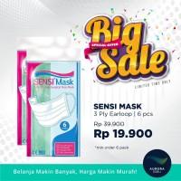 [BIG SALE] SENSI MASK 3 Ply Earloop Surgical Face Mask 6 pcs