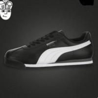 Sepatu Sneakers Olahraga Pria Model Puma Roma Retro untuk Lari