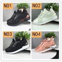 Sepatu Sneakers Lari Pria Model Puma Muse Bahan Satin Warna Hitam