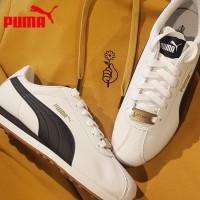 Sepatu Sneakers Bertali Desain Puma turin X Warna Putih untuk Pria