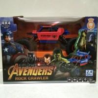 New Mobil Remote Control Avengers Rock Crawler - Merah New