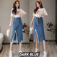 (#6156 BIGSIZE XL/XXL/XXXL)Hyuna Denim Skirt/Rok Jeans