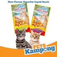 Snack kucing SuperCat Liquid Snack 15gr 1 pac isi 4