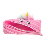 Pouch Lucu / Tempat Pensil - Zipit Unicorn Pouch - Merah Muda