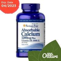 Puritan Absorbable Calcium 1200 mg with Vitamin D 1000 IU 100 Softgel