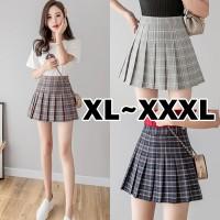 (#701 XL/XXL/XXXL)Tennis Skirt/Korean Pleated Skirt/Rok Pendek/Mini