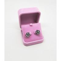 Jewelry Box Cincin, Liontin, Gelang, Kalung, Warna Pink Beludru - Anting