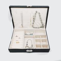 Kotak Perhiasan Jewerly Box Cincin, Kosmetik, Gelang ,Anting, Kalung - Hitam Selapis