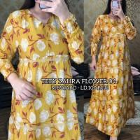 maxi dress arab/india/dubai/turki teby zahra flower 04 busui panjang