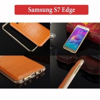 Samsung S7 Edge Leather Hybrid Case Casing Back Cover Kesing Hardcase