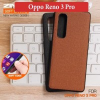 Oppo Reno 3 Pro Leather Soft Hybrid Case Casing Back Cover Silikon