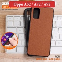 Oppo A52 A72 A92 Leather Soft Hybrid Case Casing Back Cover Silikon