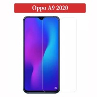 Oppo A9 2020 Anti Gores Kaca Tempered Glass Clear Screen Guard Bening