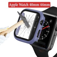 Apple Watch 40mm 44mm iWatch Bumper Case Casing Cover Tempered Glass