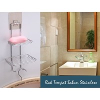 GUNINCO RAK KAMAR MANDI gantung susun 2 / rak toilet tempat sabun