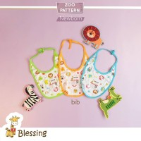 Blessing Babywear-slaber bayi-random motif-isi 3pcs