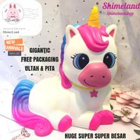 Squishy Gigantic Giant Sitting Unicorn Huge Super Super Besar