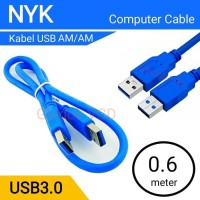 Kabel USB 3.0 NYK male to male 60cm
