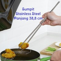 Sumpit Panjang Alat Bantu Goreng Chopstick Stainless Steel Hot Pot Cak