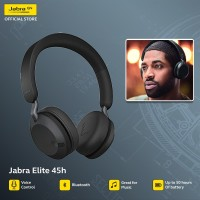 Jabra Elite 45h On Ear Wireless Headphones - Titanium Black