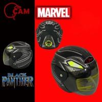 Helm SNi Evolution Black panther silver doff motor bukan gm