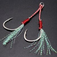 Fishing 1pc Jigging hook Harga 1 pcs Karbon tinggi membantu kait jig