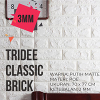 Wallpaper Dinding Sticker Foam 3D Bata Putih TRIDEE WALLPAPER