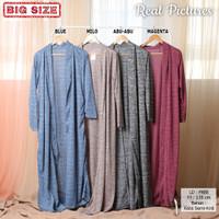 KEENAN Long Cardigan Wanita - Outer Luaran Muslim AllSize fit up to XL