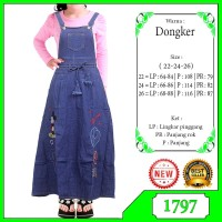 Baju Anak Perempuan Overall Jeans/Jumpsuit Anak 5-12 Thn/Overall Kodok