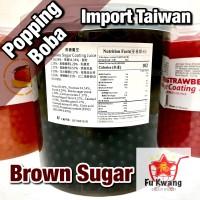 Popping Boba Rasa Brown Sugar Import Taiwan 3,2 kg