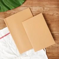 Kraft Paper Plain Notebook A5 / Buku Catatan A5 / Buku Plain A5