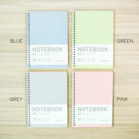 Sporty Pastel Spiral Ruled Notebook A5 40 Lembar / Buku Tulis B5