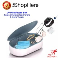 2 in 1 UV Sterilizer Portable Box Wireless Charger UVC Disinfectant