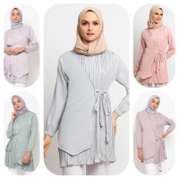 Baju Atasan Muslim Wanita Le Najwa Karin Tunik