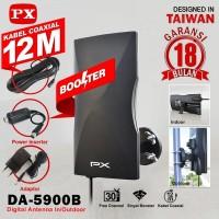 Antena TV Digital PX DA-5900B Indoor Outdoor Kabel 12 Meter + Booster