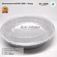 Alumunium Foil Bulat RX1200+Tutup, Lasagna,Macaroni Schotel,Cake