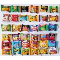 Gantungan Kunci Miniatur Snack Ciki Makanan Unik lucu harga satuan