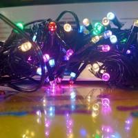 Lampu Tumbler / Lampu Hias / Lampu Natal LED Kabel Hitam Murah