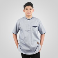 Baju Atasan Kemeja Koko Lengan Pendek Anak Remaja ABG Tanggung ZHAFRAN