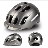 Helm Sepeda Lixada I West Biking I Helm Sepeda lipat I Helm City pro - Abu-abu
