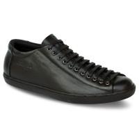 Sepatu Kulit Pria Sneakers D13 Black -Atmal- Ukuran 38-43- Jumbo 44-46 - 38