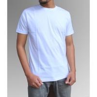Kaos Polos Putih Combed 30s Reaktif S M L XL XXL - S