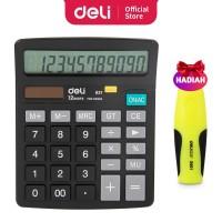 Deli Kalkulator Double Power 12 digit Layar LCD kualitas tinggi W837