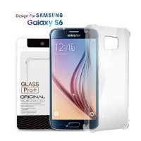 Premium Soft Case Samsung Galaxy S6 Clear - Anti Crack Glass Pro