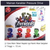 Mainan Bayi Pressure Drive Karakter Manusia Super - Hijau