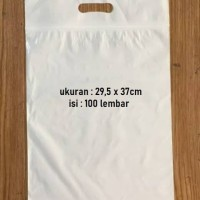 KANTONG PLASTIK KLIP POND PUTIH SUSU 29.5 X 37 CM + 7CM - ISI 100 PCS