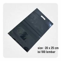 KANTONG PLASTIK KLIP POND HITAM 20 X 25 CM + 5.5CM - ISI 100 PCS