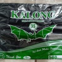 KANTONG PLASTIK HITAM - HDPE UKURAN 35 TEBAL - 500 GRAM