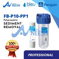 "Paket Filter Air sumur/tandon/toren penguin FB 10"" PP PRO kuningan"